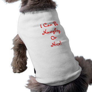 Naughy or Nice - Pet Clothing Ringer T- Shirt