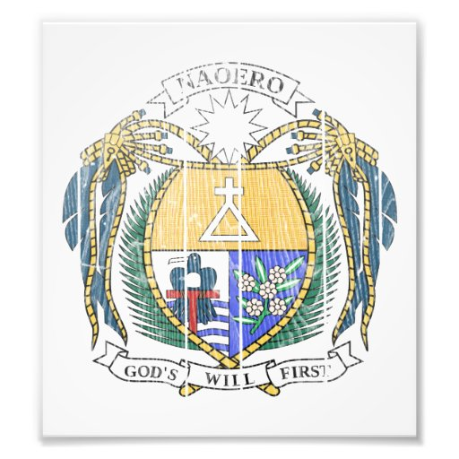 Nauru Coat Of Arms Photo Art