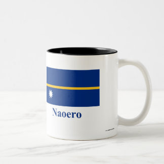 Nauru Flag with Name in Nauruan Two-Tone Coffee Mug