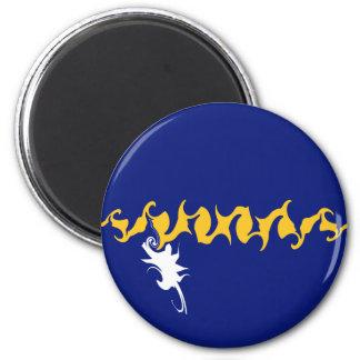 Nauru Gnarly Flag 6 Cm Round Magnet