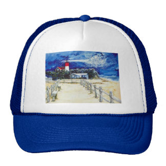 Nauset Light Conferring with the Moon Mesh Hats