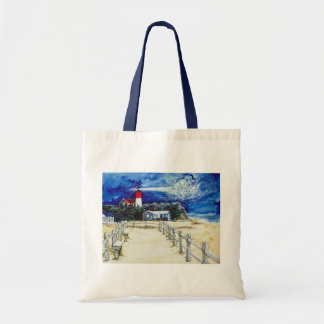 Nauset Light Conferring with the Moon Tote Bag