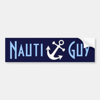 Nauti Guy Bumper Sticker