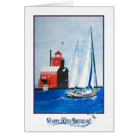 Nautical 50th Birthday Card