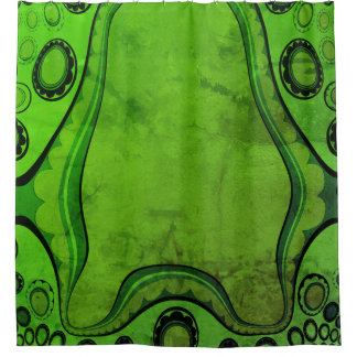 Nautical-Abstract_Fish_Mr. Green(c)_Unisex Shower Curtain