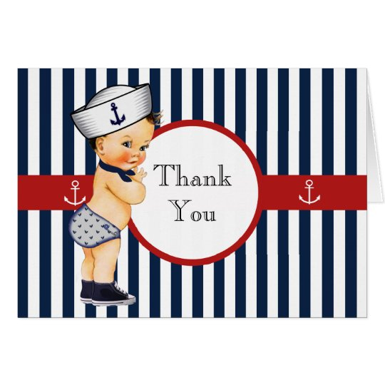 Nautical Ahoy It's a Boy Baby Shower Thank