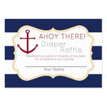 Nautical Ahoy There Diaper Raffle Ticket Pack Of Chubby Business Cards
