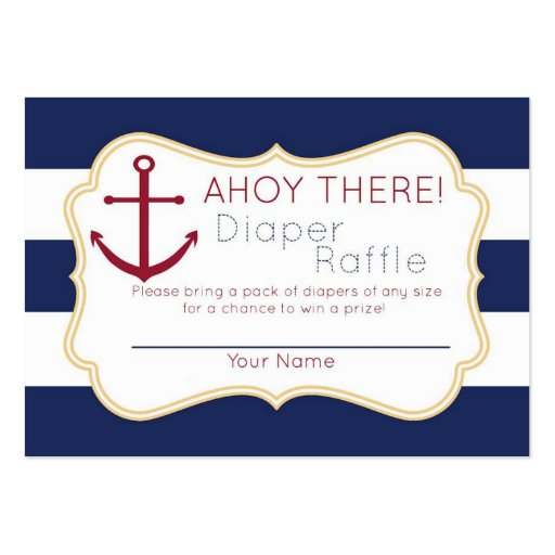 Large raffle ticket template nautical ahoy there diaper raffle ticket large business cards pack of colourmoves