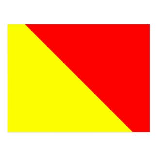 Nautical Alphabet Flag Signal Letter O Postcard