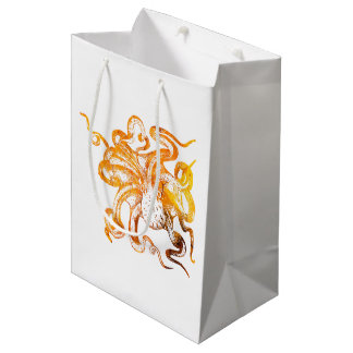 Nautical amber octopus medium gift bag