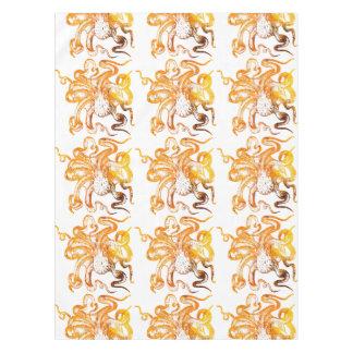 Nautical amber octopus tablecloth