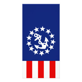Nautical American Yacht Flag is at the Marina Customised Photo Card