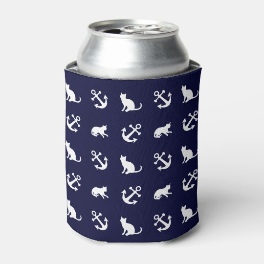 Nautical anchor and cats can cooler
