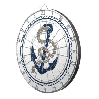 Nautical Anchor And Rope Sailing Themed Dartboard