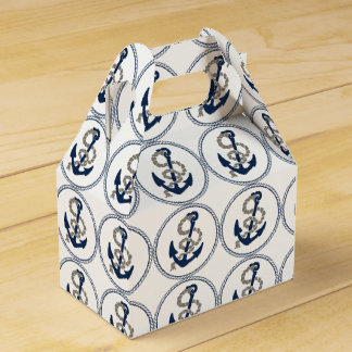 Nautical Anchor And Rope Sailing Themed Favour Box