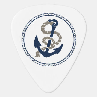 Nautical Anchor And Rope Sailing Themed Plectrum