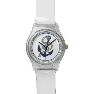 Nautical Anchor And Rope Sailing Themed Watch