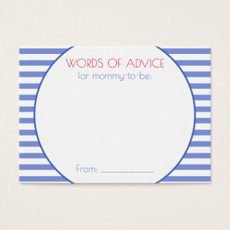 Nautical Anchor   Baby Shower Mommy Advice Cards