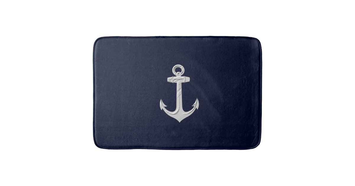 Nautical Anchor Bathroom Decor Bath Rug Bath Mat Bath Mats