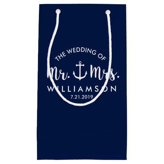 Nautical Anchor Beach Wedding Personalised Favour Small Gift