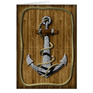 Nautical Anchor Birthday Card