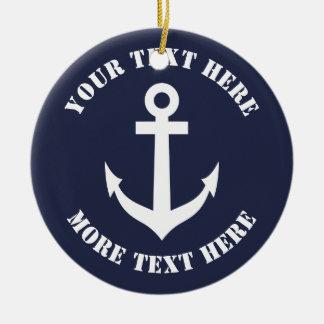 Nautical anchor Christmas ornament for sailor