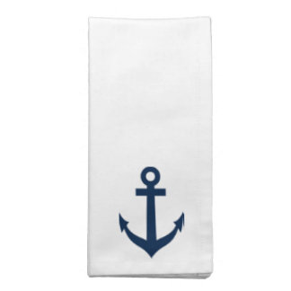 Nautical anchor cloth napkin set | Maritime theme