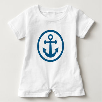 Nautical Anchor clothing Baby Bodysuit