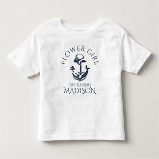 Nautical Anchor Crew Flower Girl Shirts