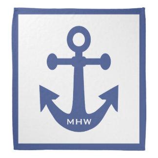 Nautical Anchor custom monogram bandana