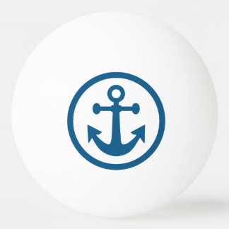 Nautical Anchor custom monogram ping pong ball