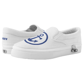 Nautical Anchor custom monogram shoes