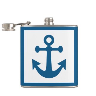 Nautical Anchor custom name flasks