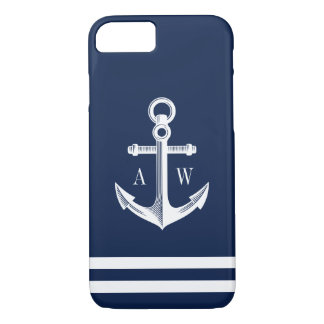 Nautical Anchor Custom Navy Style iPhone 8/7 Case