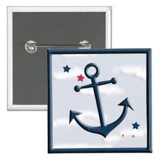 Nautical Anchor Cute Design Button