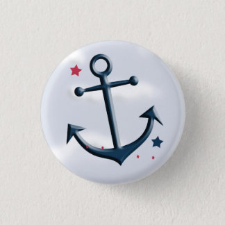 Nautical Anchor Design Round Button