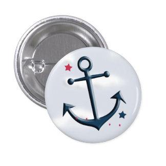 Nautical Anchor Design Round Button