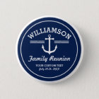 Nautical Anchor Family Reunion Trip Cruise Beach 6 Cm Round Badge