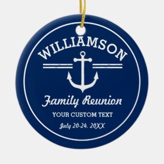 Nautical Anchor Family Reunion Trip Cruise Beach Christmas Ornament