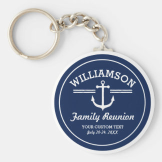 Nautical Anchor Family Reunion Trip Cruise Beach Key Ring