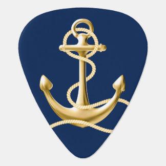 Nautical anchor guitar pick Navy blue