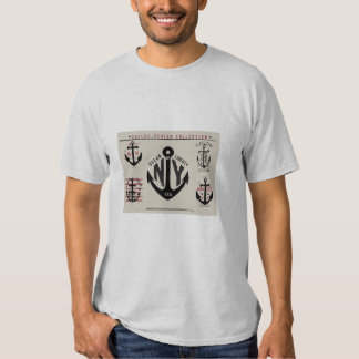Nautical anchor icons traditional colors t-shirt