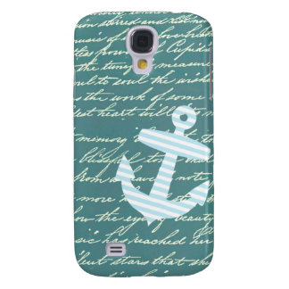 Nautical anchor in turquoise teal galaxy s4 case