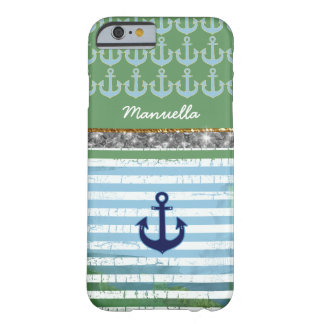 nautical anchor iPhone-6 personalized Barely There iPhone 6 Case