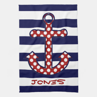 Nautical Anchor Kitchen Towel