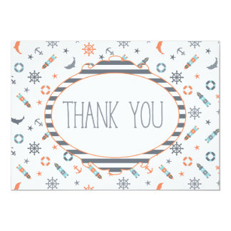 Nautical Anchor Lighthouse Thank you Card