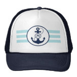 Nautical Anchor Monogram Cap