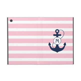 Nautical Anchor Monogram iPad Mini Cover