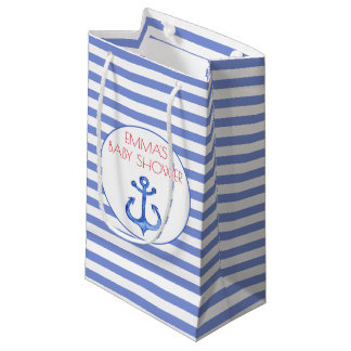 Nautical Anchor - Navy Baby Shower Gift Bag