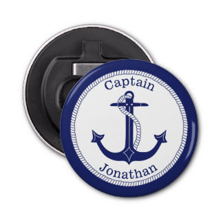 Nautical Anchor Navy Blue Captain Personalized